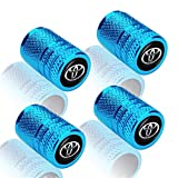 4PCS Metal Universal Tire Valve Stem Caps for Cars,Motorcycles,Bicycles with for Toyota 86 Camry Yaris Corolla 4Runner RAV4 Highlander Land Cruiser Prius Series,Styling Decoration Accessories, Blue