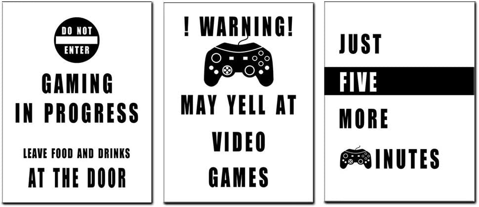 Funny Video Game Wall Art SEAL limited product Posters Themed decal Industry No. 1 Room for Ki Gamer