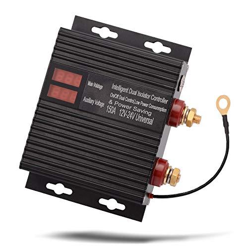 JLMOH Interruptor de Encendido, Potencia Normalmente Abierta Controlador de relé de Coche Socket 12V 24V 150A Tensión Sensible al relé aislador de batería de Doble batería/Apagado Interruptor