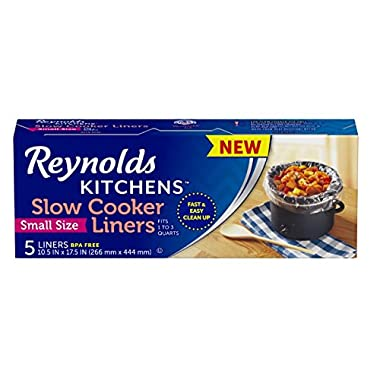Reynolds Kitchens Slow Cooker Liners, (Small Size, 5 Count)