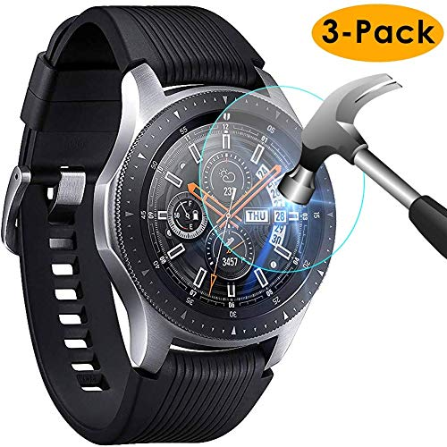KIMILAR [3-Pack] Compatible with Samsung Galaxy Watch 42mm Screen Protector, Waterproof Tempered Glass Screen Protector Cover Compatible with Samsung Galaxy Smartwatch [Crystal Clear][Scratch Resist]