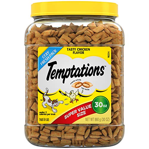 TEMPTATIONS Classic Crunchy and Soft Cat Treats Tasty...