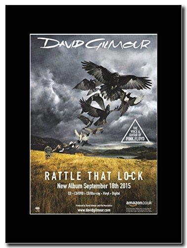 gasolinerainbows - Pink Floyd - David Gilmour - Rattle That Lock. - Illustration de Magazine sur Une Monture Noire - Matted Mounted Magazine Promotional Artwork on a Black Mount
