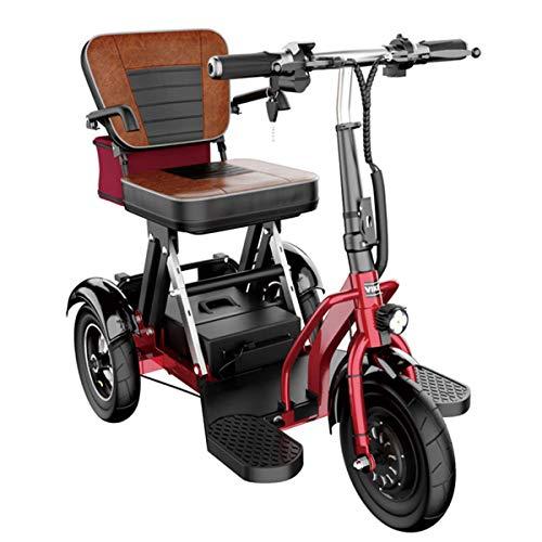 CYGGL Mini Elektro-Dreirad Old Scooter Folding Elektroauto Adult Behinderte Auto 350W Motorleistung Körpergewicht 26KG -3 Gangschaltung - Maximale Laufleistung 55Km (8A/30KM)
