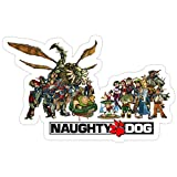Jess-Sha Store 3 PCs Stickers Jak & Daxter, Naughty Dog Sticker for Laptop, Phone, Cars, Vinyl Funny Stickers Decal for Laptops, Guitar, Fridge