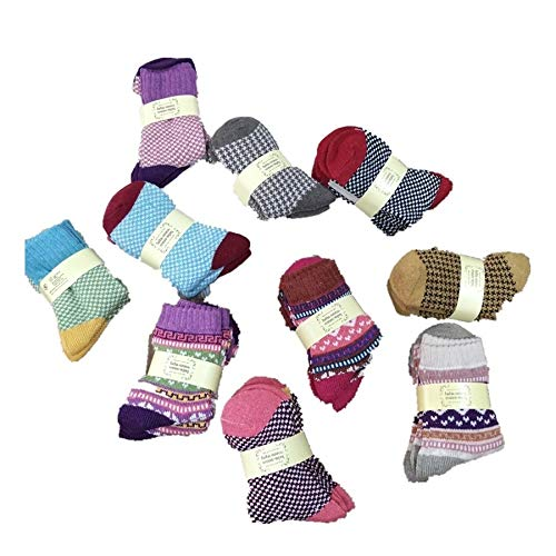 Chensc Calcetines de Invierno Pilas Individuales tótem Calcetines de Lana Calcetines Grupo Mixto de 10 Pares Calcetines cómodos y Transpirables.