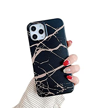 Cocomii Matte Marble iPhone 11 Case Slim Thin Matte Soft Flexible TPU Silicone Rubber Gel Shiny Reflective Streaks Fashion Phone Case Bumper Cover Compatible with Apple iPhone 11 6.1   Black/Gold