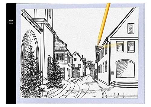 JZUO A4 Zeichentablett Digitales Grafikpad USB LED-Lichtbox Verfolgungskopiebrett Elektronische Kunst Grafik Malerei Schreibtisch
