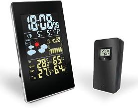 weerstation Temperatuur-vochtigheidssensor Kleurrijk LCD-scherm Voorspelling Klok binnen/buiten