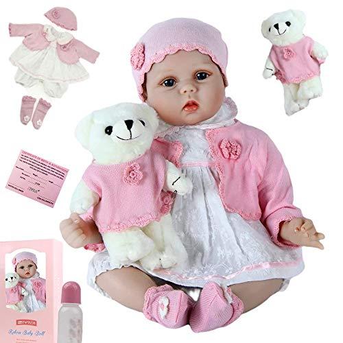 ZIYIUI 22 Pulgadas 55 cm Realista niña Reborn Baby Doll Chica Hecho a Mano de Silicona bebé Real recién Nacido Chico Juguete