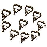 ZIJIA 10PCs Jewelry Box Pull Handle Dresser Drawer for Cabinet Door Round Antique Bronze Thread Handle