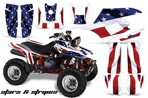 AMR Racing ATV Graphics kit Sticker Decal Compatible with Yamaha Warrior 350 All Years - Stars and Stripes