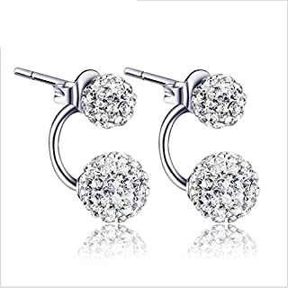 Gagafeel Double Ball Shape Solid color Romantic and Cute Stud earrings for Women