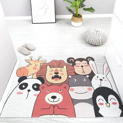 Alfombra De La Habitación De Los Niños Chico Chica Recamara Alfombra Infantil Dormitorio 60*120Cm Animal Paradise-G Círculo De Seda Hogar PVC Dibujos Animados Lindo