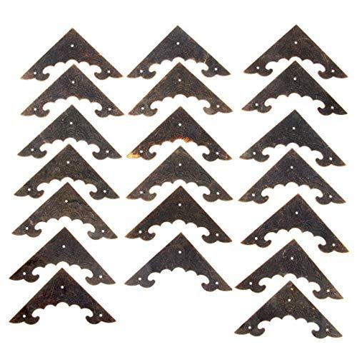 Rechtwinklige Halterung aus Metall 20pc Dekoration Corner Bracket Antikschmuck Holzkiste Fuß Bein Eckenschutz Crafts Möbelbeschläge Hardware 40mm / 58mm (Color : Size 58x58mm)