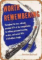 2個 8 x 12 cm メタルサイン - 1946 年アメリカ鉄道協会 メタルプレート レトロ アメリカン ブリキ 看板