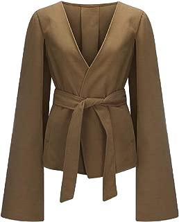 Women's Long Sleeve Casual Elegant Woolen Cape Cloak Wool Blended Overcoat
