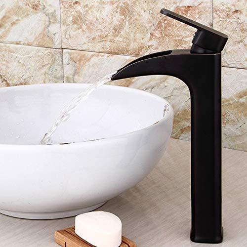 LG Snow Grifo de Lavabo de Cobre Lavabo Retro Europeo Lavabo de Lavabo Antiguo Orb Negro Cascada Faucet
