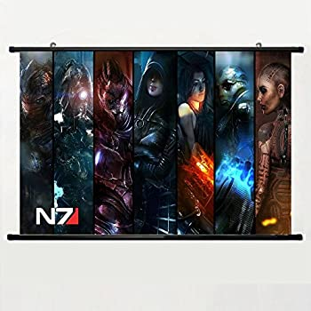 Eyor Home Decor Art Cosplay DIY Prints Poster with Mass Effect Wall Scroll Poster Fabric Painting 23.6 X 16.7 Inch  60cm X 40 cm