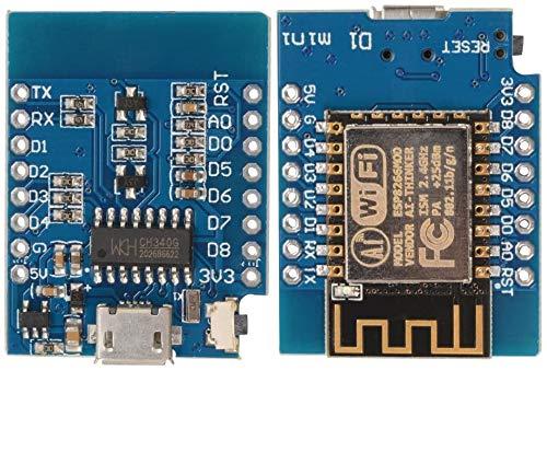 Sun3drucker 3stk Mini NodeMcu Lua con ESP8266-12E 4M Bytes modulo WLAN compatibile con Arduino, WeMos