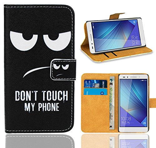Huawei Honor 7 Handy Tasche, FoneExpert® Wallet Hülle Flip Cover Hüllen Etui Ledertasche Lederhülle Premium Schutzhülle für Huawei Honor 7 (Pattern 15)
