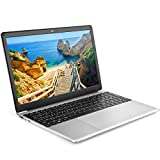 15.6 inch Laptop Computer - YELLYOUTH Full HD Display CPU N3060 1.6Ghz up to 2.0Ghz Dual Core 4GB Memory 64GB eMMC Notebook Compatible with Windows 10 Home WiFi HDMI Silver