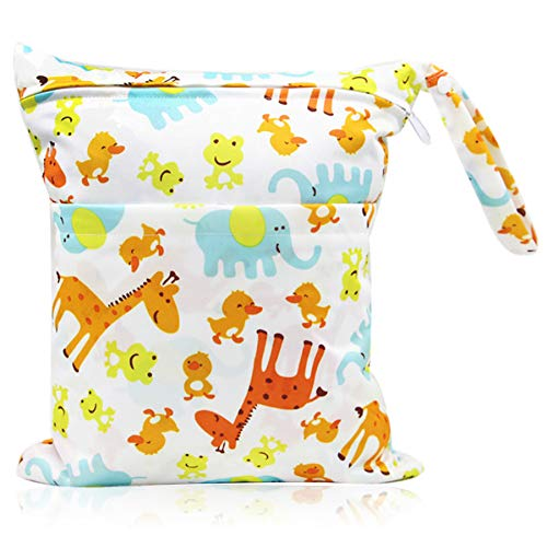 Bolsa de Pañales, Reutilizable Wetbag, Impermeable Reutilizable Bolsa de pañales, Bebé Prueba de Agua Bolsa de Pañales, Bolsa de pañales bebe de Maquillaje de Colgar, Viajes, Playa, Piscina, Gym
