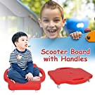Gorgebuy Kids scooter board with Safety handles - Children's Safety Plastic Scooter Board Scooter Seat with Swivel Casters for Boys Girls Childrens, 16-inches