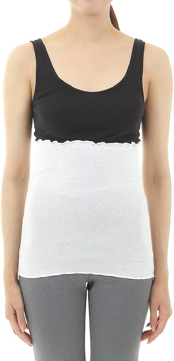 DuringVillage Belly Warmer Haramaki Thermal Underwear Top Cotton & Silk for Women Made in Japan