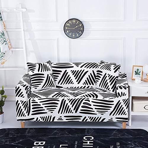 Funda de sofá con diseño de Flor de melocotón Fundas de sofá elásticas elásticas para Muebles de Sala de Estar Funda de sofá A16 3 plazas
