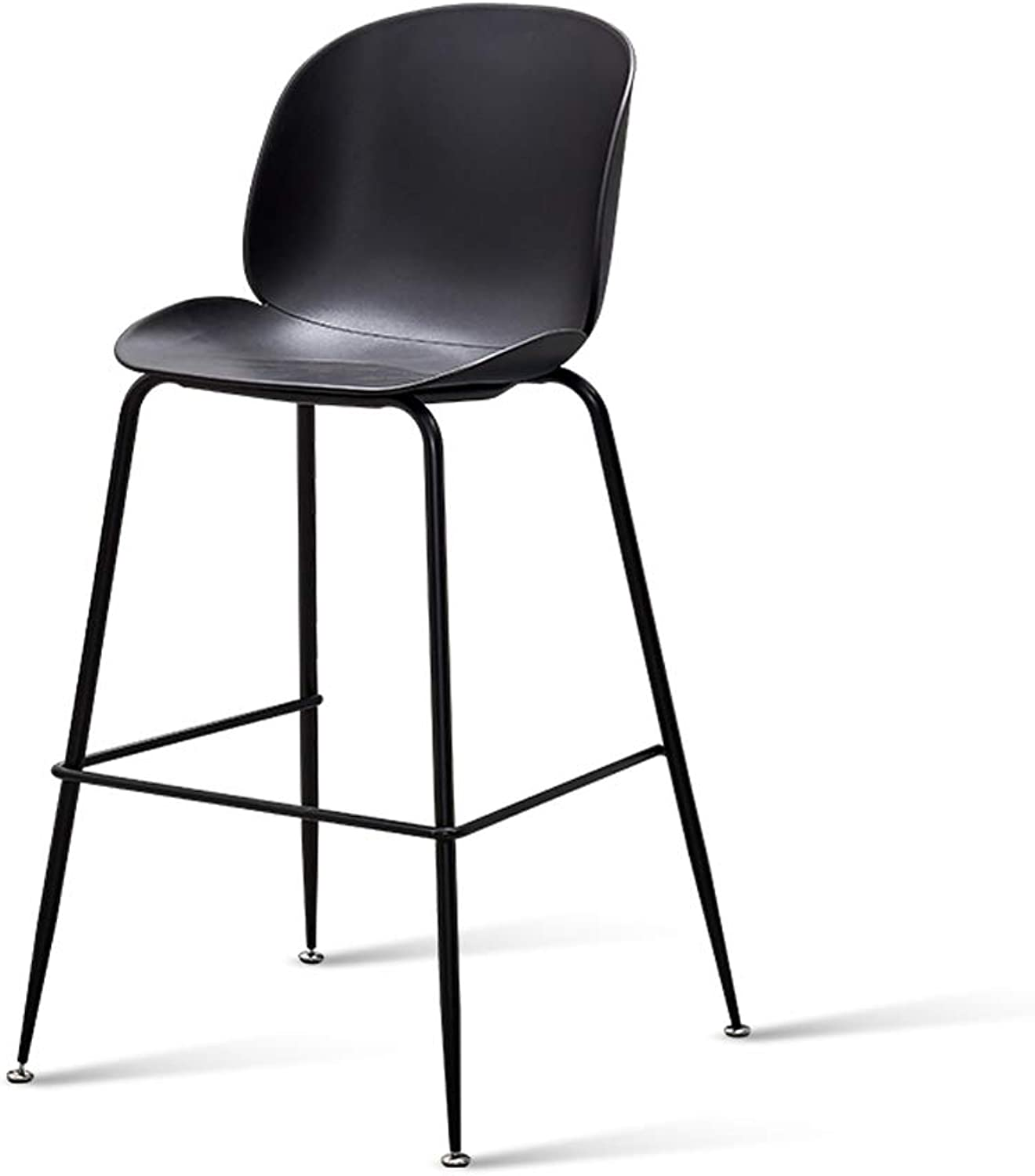 Simple Front Desk Bar Nordic Bar High Bar Restaurant Creative Fashion Bar Chair Home Multicolor Sitting High 72 (color   Black)