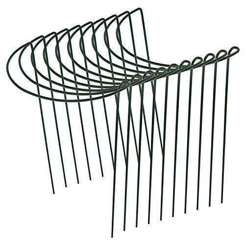 10 Stück Pflanzenstütze Pfahl Garten Reifen Metall Halbrundring Pflanzenkäfig Unterstützung (30x20cm)