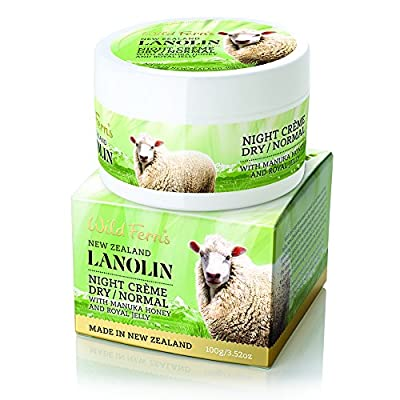 Wild Ferns Lanolin Night Creme (Dry To Normal Skin) with Manuka Honey And Royal Jelly 100g by Parrs Products
