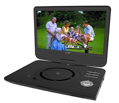 Reflexion DVD1005 Tragbarer 25,4 cm (10 Zoll) DVD-Player mit USB, Antischocksystem, Fernbedienung, Haltegurte Kopfstütze, Mini-AV Kabel, 12V Adapter, 230V Netzteil schwarz