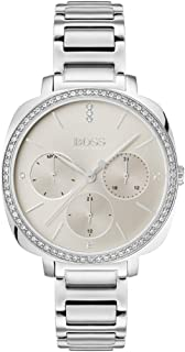 Hugo Boss Womens Quartz Watch, Chronograph Display and Stainless Steel Strap 1502492