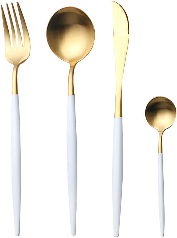Under blast sales 4 Pieces Stainless Steel Tableware Ranking TOP2 Set Incl Flatware Cutlery
