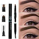 3 IN 1 Long Lasting Eyebrow Pencil for Waterproof Eyebrow Makeup, Multifunctional Automatic