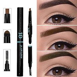 3 IN 1 Long Lasting Eyebrow Pencil for Waterproof Eyebrow Makeup, Multifunctional Automatic Eyebrow Pigment Eyebrow Pencil Makeup Cosmetics