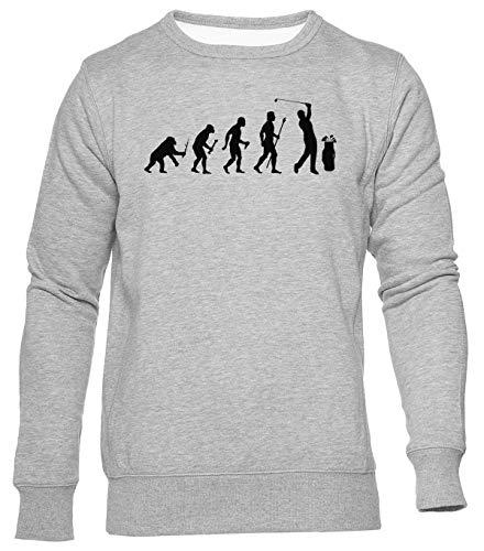 Gracioso Evolución De Golf Jersey Hombre Mujer Unisex Gris Jumper Men's Women's Grey