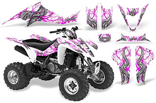 CreatorX Suzuki Ltz 400 Graphics Kit Decals Fire Blade Pink White