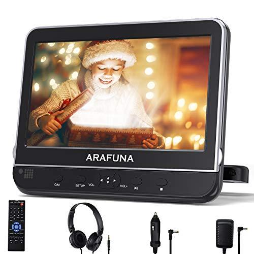Reproductor de DVD para coche con soporte para reposacabezas, reproductor de DVD portátil para coche con visualización HD de 10,1 pulgadas, compatible con 1080P Vedio, USB SD, AV en Out, entrada HDMI, región, auriculares incluidos