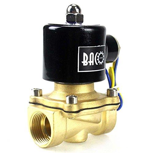 """BACOENG DC 12V 3/4"""" válvula de solenoide eléctrica Latón Solenoid Valve para Agua Aire Aceite NC"""