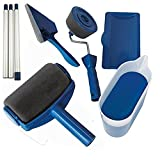 KAIBINY 8pcs Wall Decorate Pintura Roller Cepillo Set Paint Runner Pro Cepillo Kit Multifuncional House Paint Rollers Runner Pro Tools Set (Color : Navy Blue, Product Size : Other)