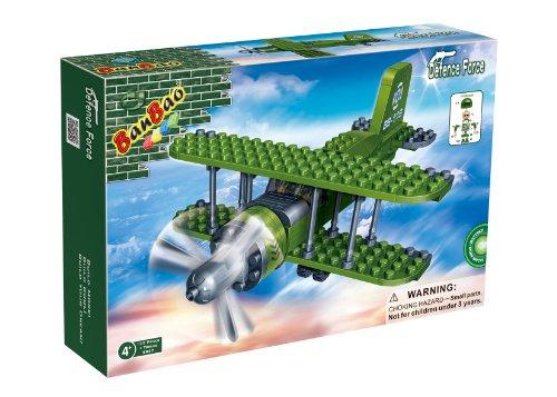 BanBao B8827 leger vliegtuig constructiespeelgoed