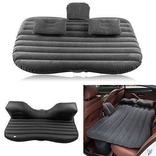 GOTOTOP Auto aria letto gonfiabile letto Sedile posteriore materassi Materasso ad Aria con Pompa, Nero