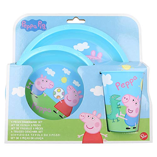 SET EASY 3 PCS (PLATO, CUENCO Y VASO EASY 260 ML) PEPPA PIG