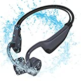 Waterproof Bone Conduction Headphones Wireless Bluetooth Swimming Mp3 Player- Open Ear Sport Wireless Bluetooth 5.0 Earphones for Diving Headset for Underwater Running Gym Cycling 16GB (Style 1_Gray)