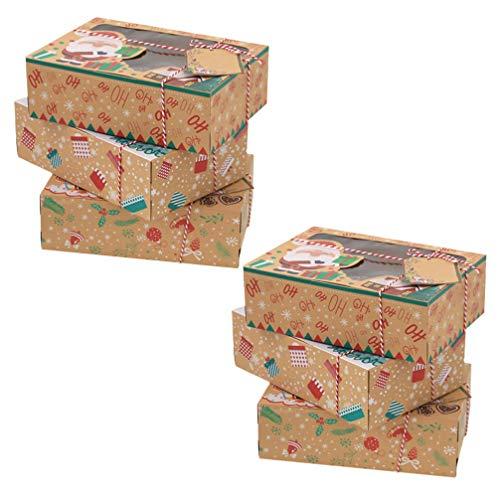 VALICLUD Cajas de Galletas de Papel Kraft de Navidad Cajas...