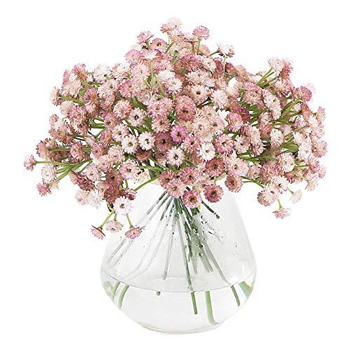 VINFUTUR 3 Bündel Kunstblumen Gypsophila Künstliche Blumensträuße Blumenarrangement für Basteln Hochzeit Party Homedeko