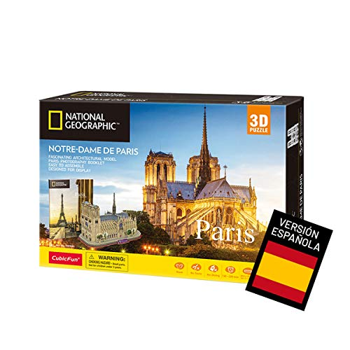 World Brands- Puzzle 3D Notre Dame de Paris, Color variado (Tachan DS0986h)